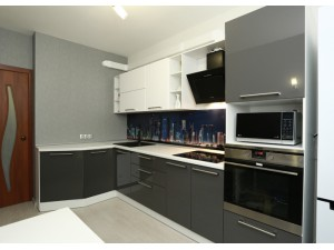 Черно-белые кухни