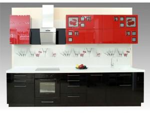 Черно-красные кухни