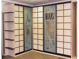 Шкаф-купе двери пескоструйный рисунок